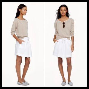 j. crew // white linen boardwalk mini skirt